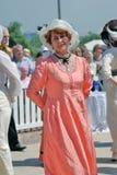Portret van mensen in historische kostuums Zij dansen Royalty-vrije Stock Foto
