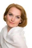 Portret van midden oude vrouw Royalty-vrije Stock Afbeeldingen