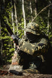 Portret van militair in uniformen stock afbeeldingen