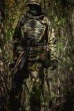 Portret van militair in uniformen stock foto's