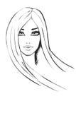 Portret van modieus meisje Royalty-vrije Stock Afbeelding