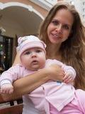 Portret van moeder en leuke baby Royalty-vrije Stock Foto