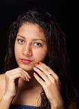 Portret van mollig meisje Stock Afbeelding