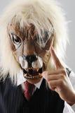 Portret van monsterwerkgever met gezicht Stock Foto's