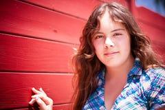 Portret van mooi 14 éénjarigenmeisje royalty-vrije stock foto