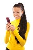 Portret van mooi donker-haired meisje Stock Afbeeldingen
