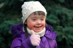 Portret van mooi gelukkig meisje royalty-vrije stock fotografie