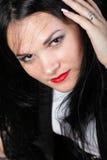 Portret van mooi jong brunette Stock Fotografie