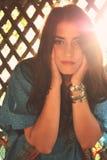 Portret van mooi jong brunette Stock Foto