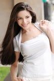 Portret van mooi jong meisje. Royalty-vrije Stock Afbeelding