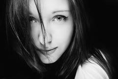 Portret van mooi meisje. Stock Foto's