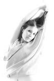 Portret van mooi meisje. Royalty-vrije Stock Foto