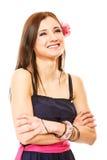 Portret van mooi meisje in de zomerstijl Royalty-vrije Stock Foto's
