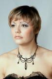 Portret van mooi meisje, studio Stock Foto's