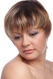Portret van mooi meisje, studio Royalty-vrije Stock Foto's