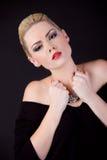 Portret van mooi meisje van blonde Royalty-vrije Stock Afbeeldingen