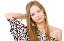 Portret van mooi meisjesmodel Royalty-vrije Stock Foto