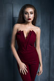 Portret van mooi model in manierkleren royalty-vrije stock foto