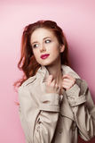 Portret van mooi redhead meisje Stock Afbeelding
