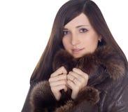 Portret van mooi schoonheidsmeisje Royalty-vrije Stock Foto