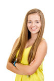 Portret van mooi, tienermeisje het glimlachen Royalty-vrije Stock Foto's