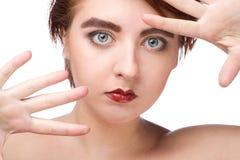 Portret van mooi vrouwelijk model royalty-vrije stock foto's