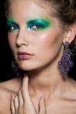 Portret van mooi vrouwenmodel. De foto van de manier Stock Foto
