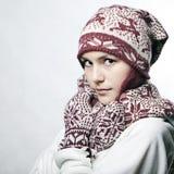 Portret van mooi whitehairmeisje Royalty-vrije Stock Fotografie