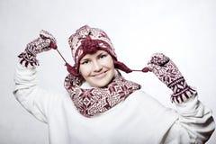 Portret van mooi whitehairmeisje Stock Afbeeldingen