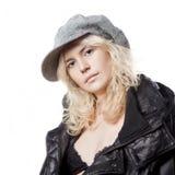 Portret van mooi whitehairmeisje Stock Foto's