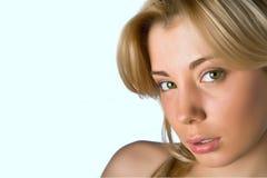 Portret van mooi wit-haarmeisje Stock Afbeeldingen