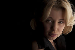 Portret van mooi wit-haarmeisje Stock Foto's