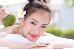 Portret van mooie Aziatische mensen met dichte omhooggaande mening en dicht Royalty-vrije Stock Afbeeldingen