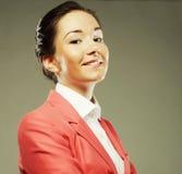 Portret van mooie bedrijfsvrouw stock afbeelding