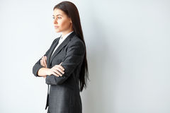 Portret van mooie bedrijfsvrouw Royalty-vrije Stock Afbeelding