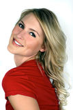 Portret van mooie blond royalty-vrije stock foto