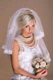 Portret van mooie blonde bruid Royalty-vrije Stock Foto's