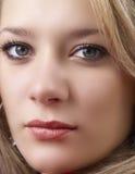 Portret van mooie blonde vrouw Royalty-vrije Stock Foto