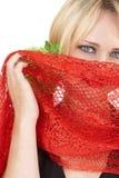 Portret van mooie blonde vrouw Stock Afbeelding