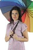 Portret van mooie brunette Stock Foto's