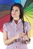 Portret van mooie brunette Royalty-vrije Stock Foto