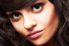 Portret van mooie brunette Royalty-vrije Stock Fotografie