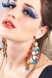 Portret van mooie donkerbruine vrouw Stock Fotografie