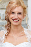 Portret van mooie glimlachende bruid Royalty-vrije Stock Foto