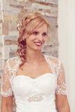 Portret van mooie glimlachende bruid Stock Fotografie