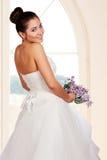 Portret van mooie jonge bruid Stock Foto
