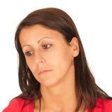 Portret van mooie jonge brunette royalty-vrije stock afbeelding