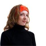 Portret van mooie jonge geïsoleerder vrouw Stock Foto's
