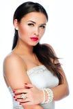 Portret van mooie jonge Kaukasische vrouw Stock Afbeelding