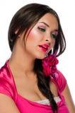 Portret van mooie jonge Kaukasische vrouw Royalty-vrije Stock Foto's